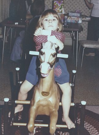 Look at me on my rocking horse