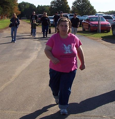 2008 - Cassie always walked with great determination wherever she was going.