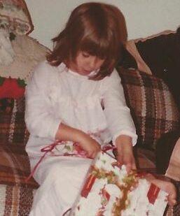 Opening Christmas gifts - Coolidge Aveune, Phoenix, Az