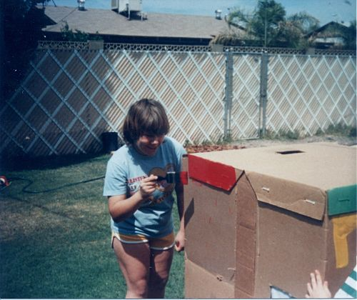 Painting Cardboard Clubhouse on Butler Avenue, Phoenix, Az
