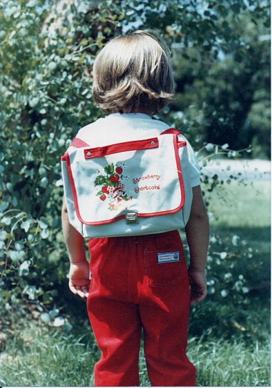 School clothes & back pack 1981
