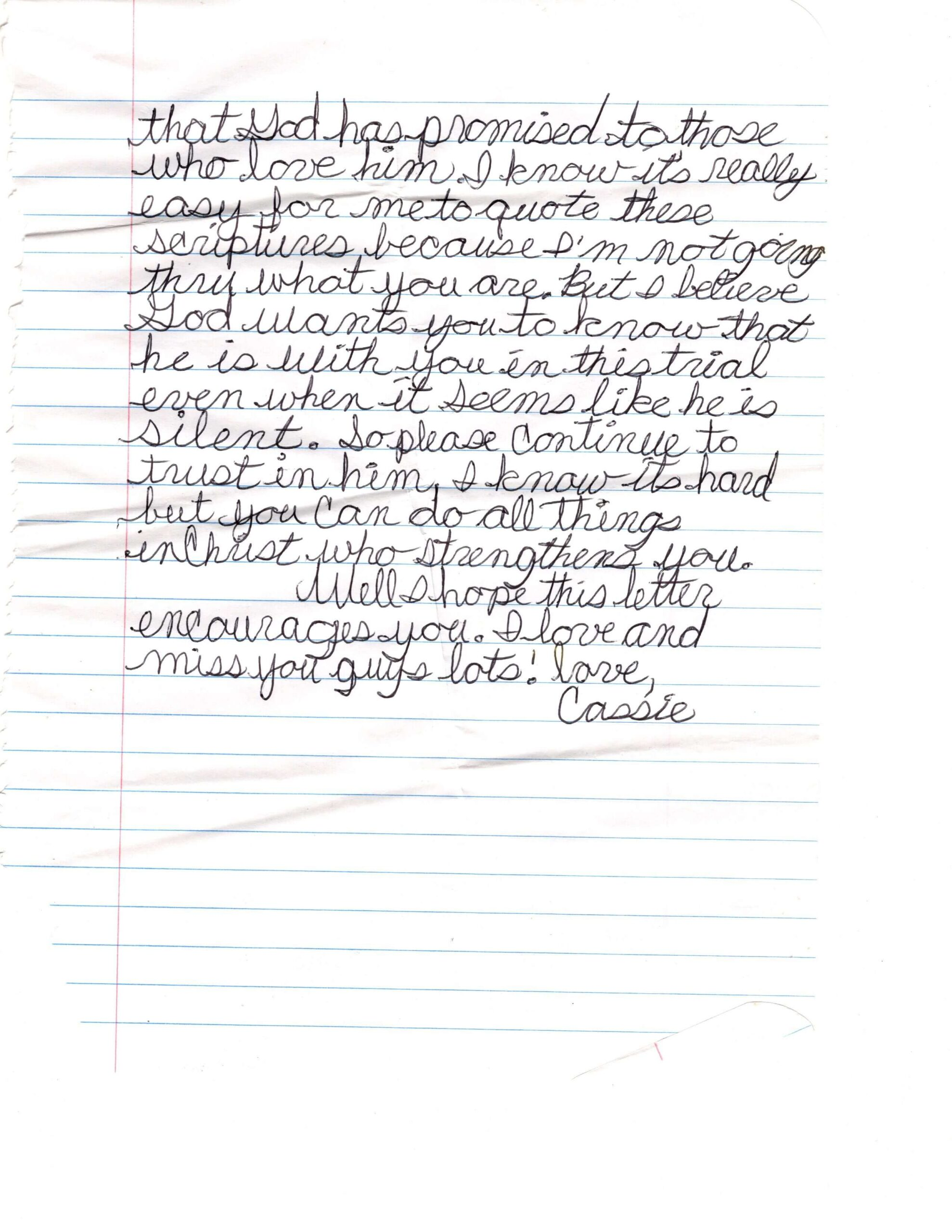 letter from cassie page three